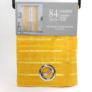 Glory Home Design Accents - Karen Sheer Grommet-Top Single Curtain Panel_APSHR